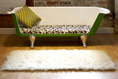 Breakfast at Tiffany's bathtub couch