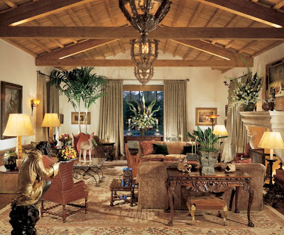 Spanish Colonial interiors can be quite elegant or extremely casual  depending on furniture and accessory selection. Spanish Colonial Interiors   Decor to Adore