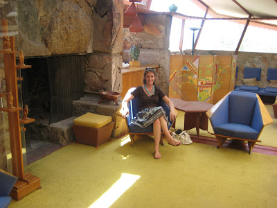 Laura at Taliesin West