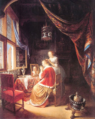 """The Lady at her Dressing Table"""