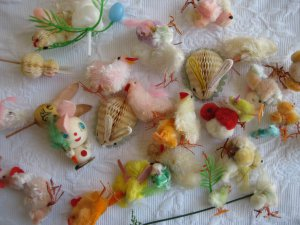 antique and vintage peep easter chicks