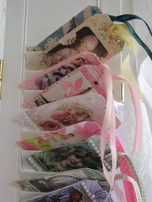Gift tags on shutters