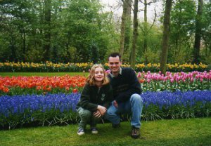 Eric Ray and Alyssa at Keukenhof Gardens