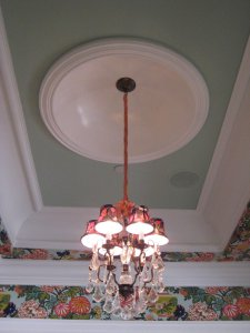 Ribbon Covered Chandeliers