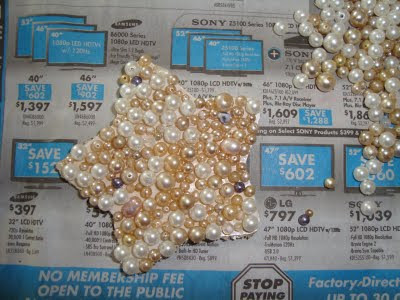 Pearl Encrusted Christmas ornament