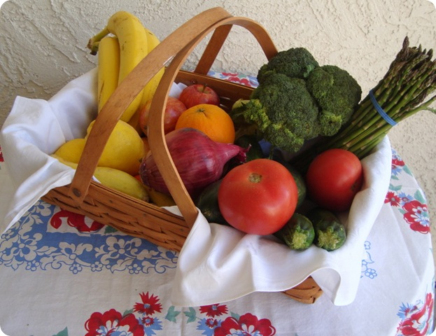 organic produce basket