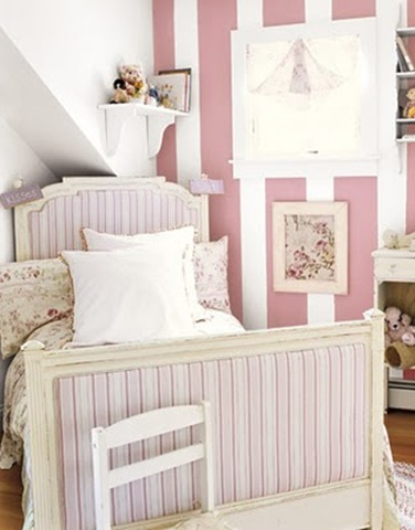 French ticking bed country living