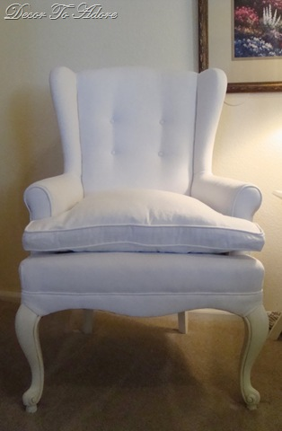 white twill wingchairs