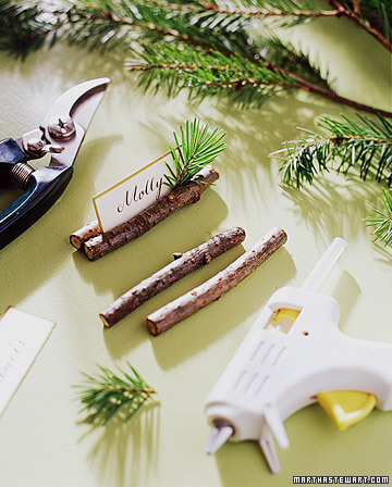 twig place card holders