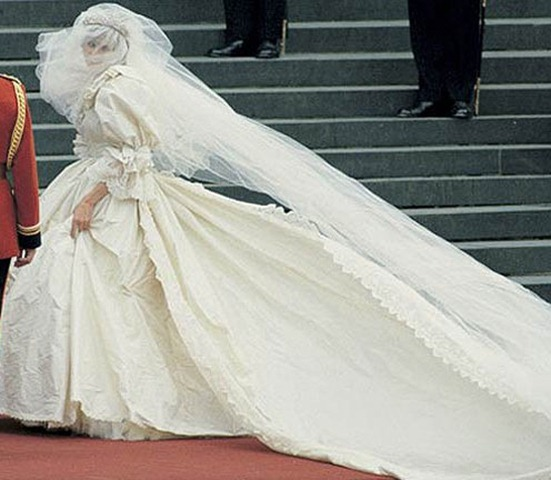 Lady Diana Spencer as a bride