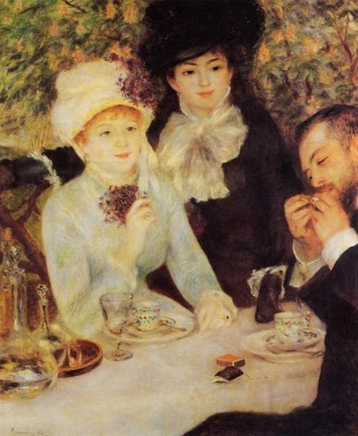 Pierre-Auguste-Renoir-The-End-of-Lunch-Oil-Painting
