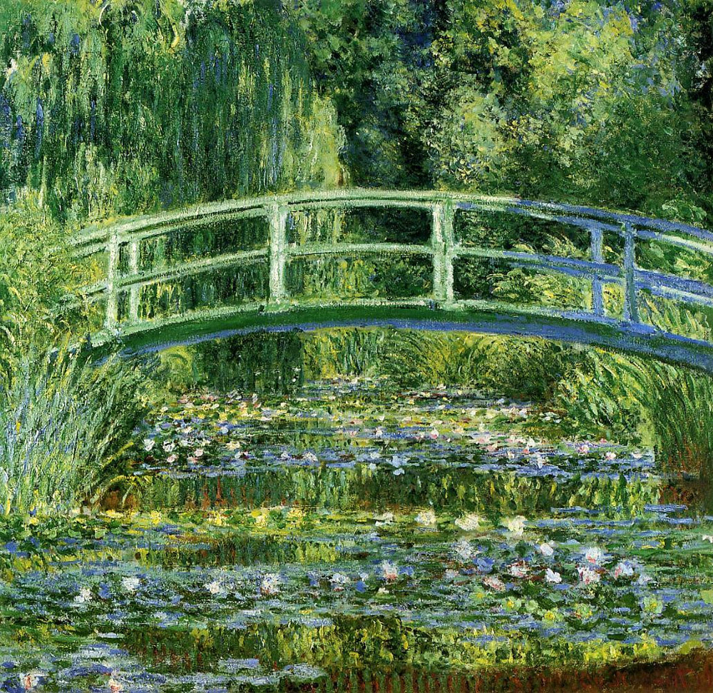 """""""Water Lilies and Japanese Bridge"""" 1899"""