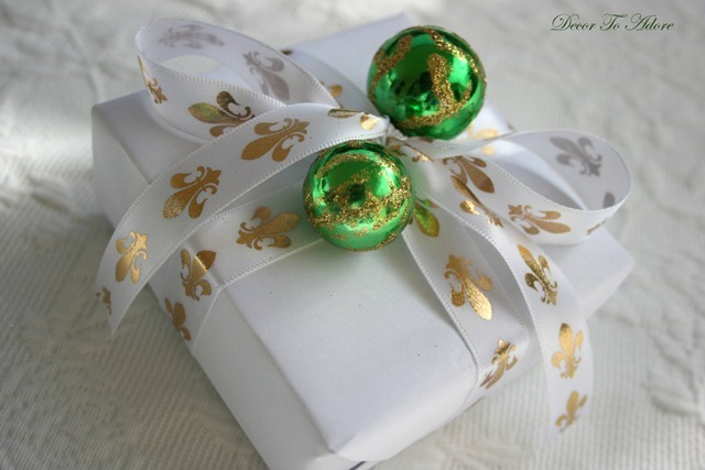 French inspired gift wrap