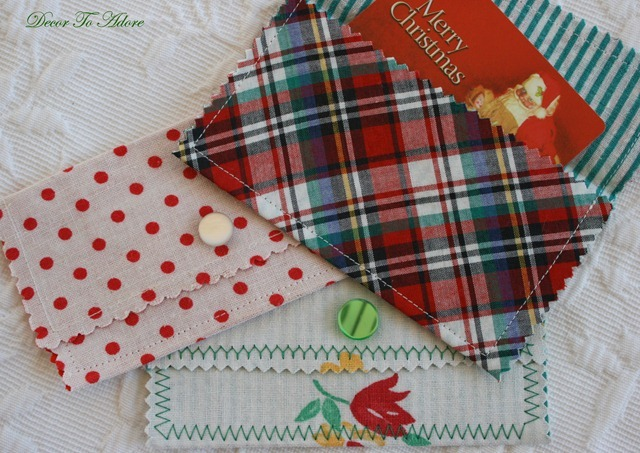 fabric envelope gift card holders
