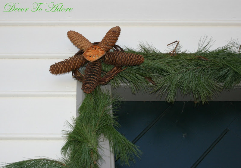 garland with pinecone star