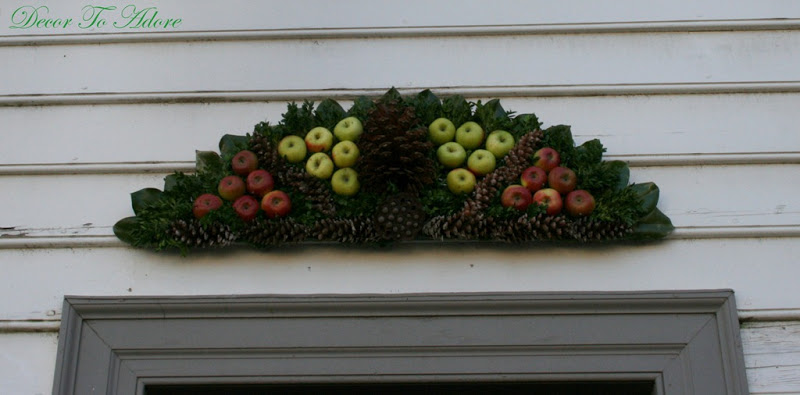 pinecone and apple wreath