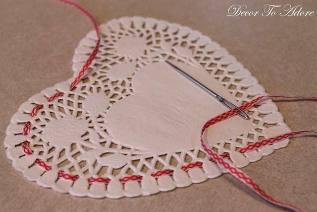 Doily candy holders