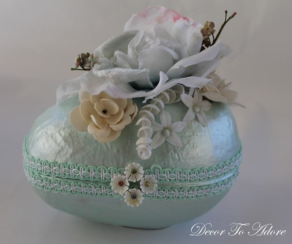vintage millinery topped egg