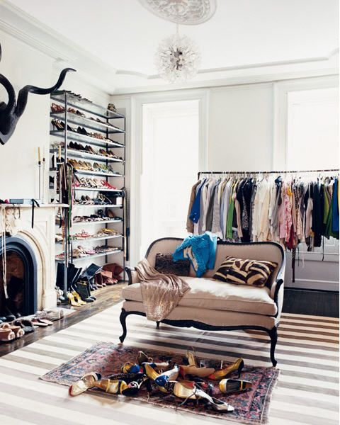 Jenna Lyons (Creative Director of J Crew) and her closet. Are you kidding me...
