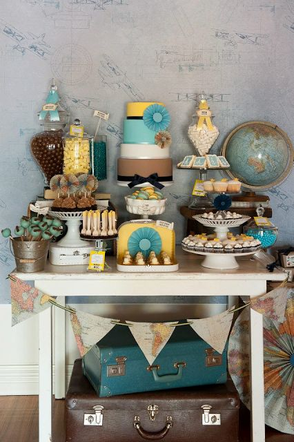 A Bon Voyage Themed Party Decor To Adore