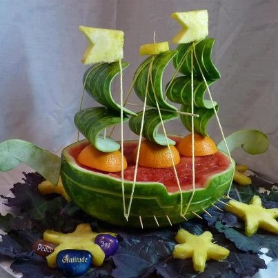 Pirate watermelon ship