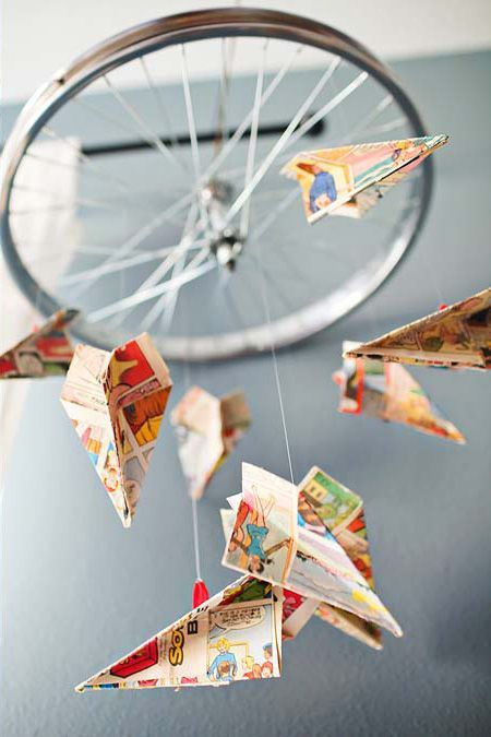 Paper Airplane Mobile