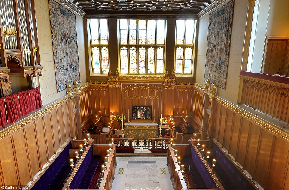 Intimate: The little-known Chapel Royal at St James's Palace has been chosen for Prince George's christening