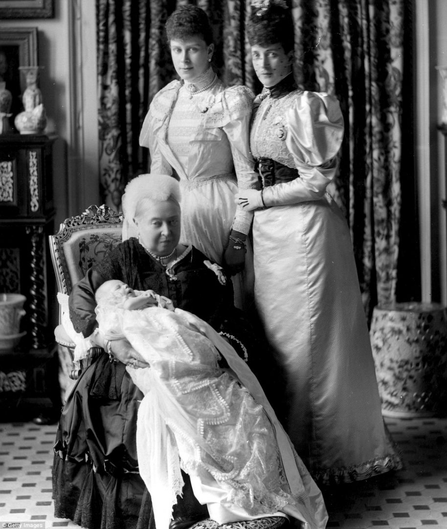 Heritage: Queen Victoria in 1894 at the christening of her great-grandson, the future King Edward VIII (1894 - 1972)