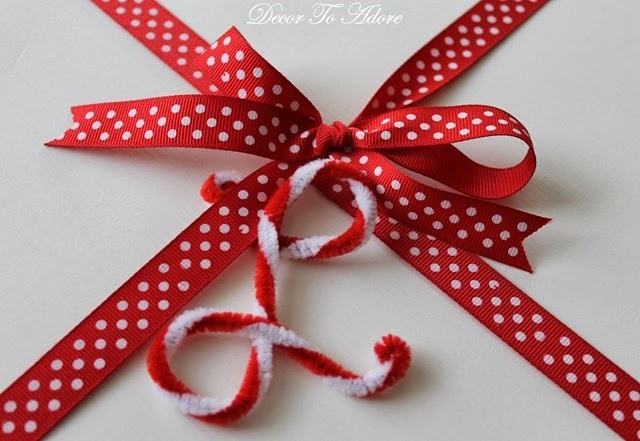 candy cane initial