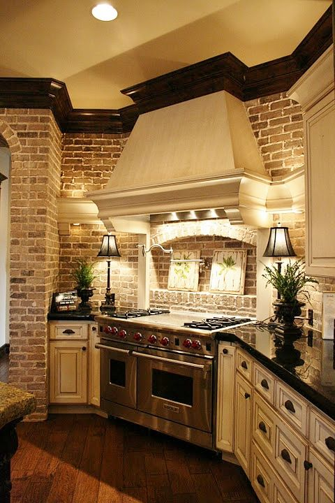 White Kitchen Exposed Brick exposed brick in kitchens, yea or nay? - decor to adore