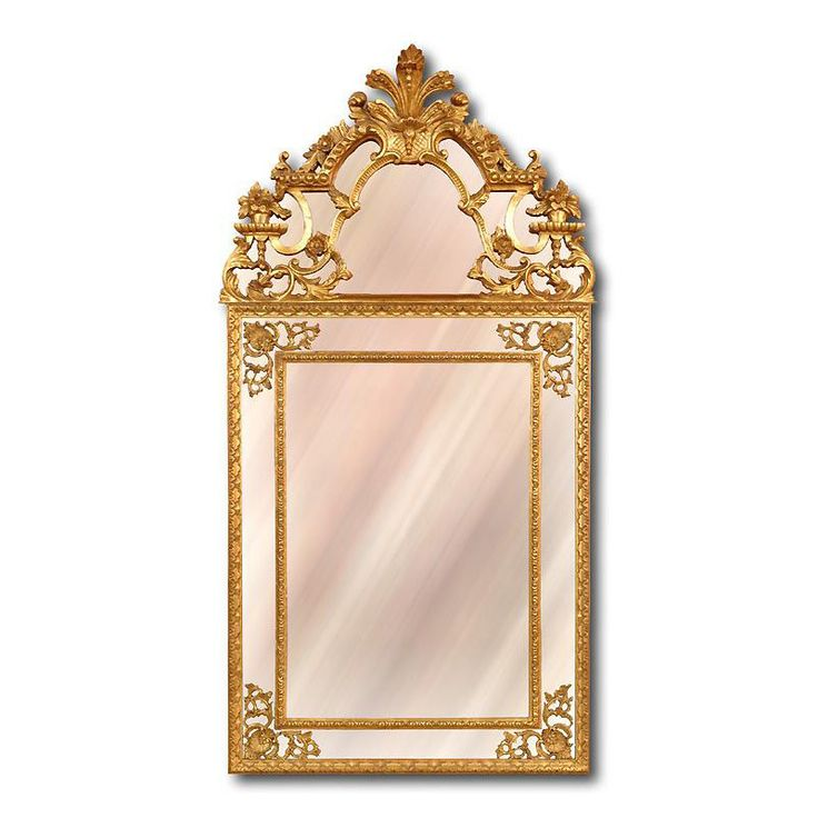 Italian Carved Regence Style Giltwood Mirror with Panels from piatik on Ruby Lane