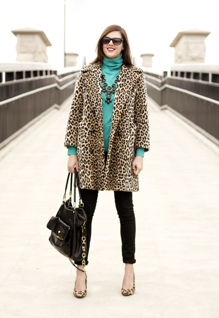 Jessica Quirk, What i Wore, What I Wore blog, Jessica Quirk Blog, What I Wore Jessica, Funny Face NARS, J.Crew, Vintage leopard coat, Vintage modern: