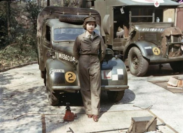 This is Queen Elizabeth during her military service.