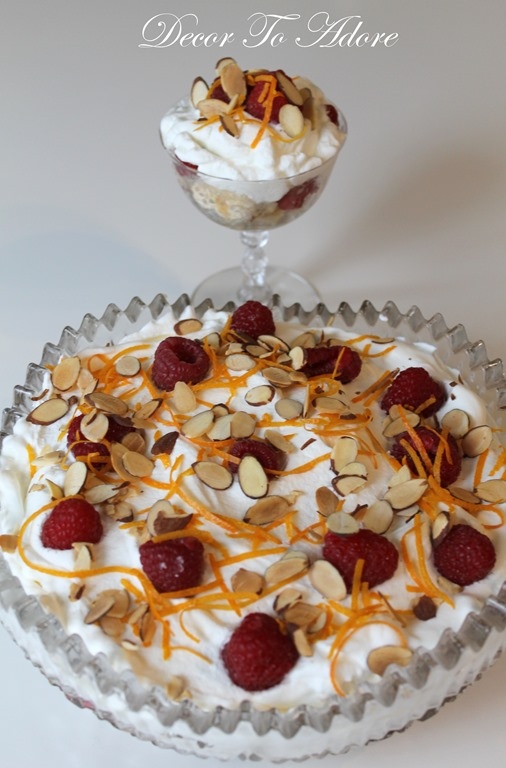 Easy Raspberry Orange Trifle