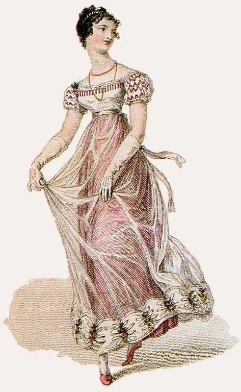 1823-Ball-Gown-Diaphanous-Overskirt - 1820s in Western fashion - Wikipedia, the free encyclopedia: