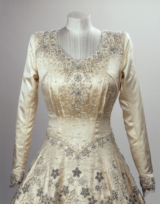 The Queens Wedding and Coronation dresses: