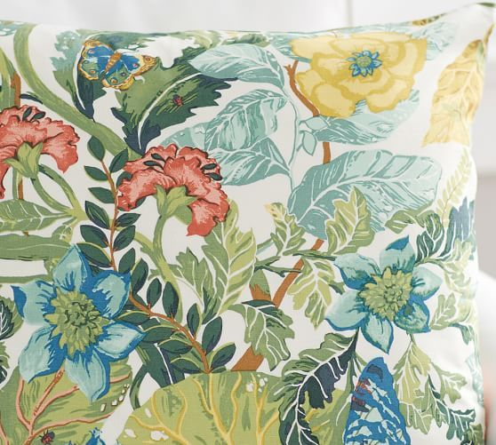 Lyla Garden Print Pillow Cover | Pottery Barn: