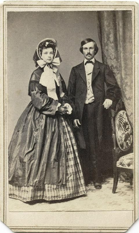 No idea when it may have been taken but by the fashion possibly 1860's thru 1880's. Reminds me of Gone with the Wind.: