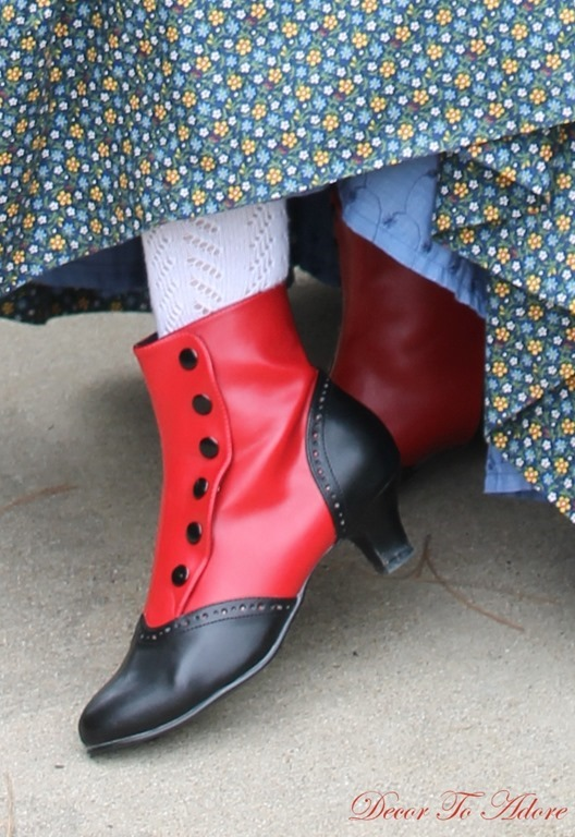 Becoming Laura Ingalls Wilder red boots