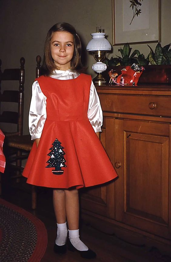 Christmas, 1955 sequin skirt