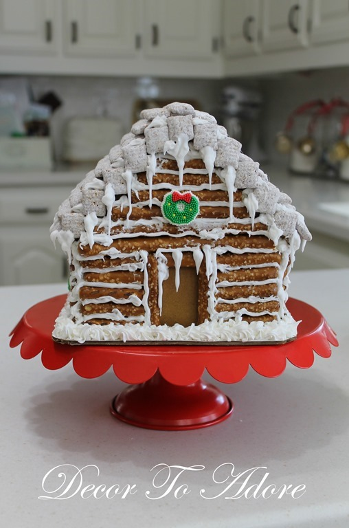 Little house christmas lauras gingerbread log cabin decor to adore little house christmas lauras gingerbread log cabin maxwellsz