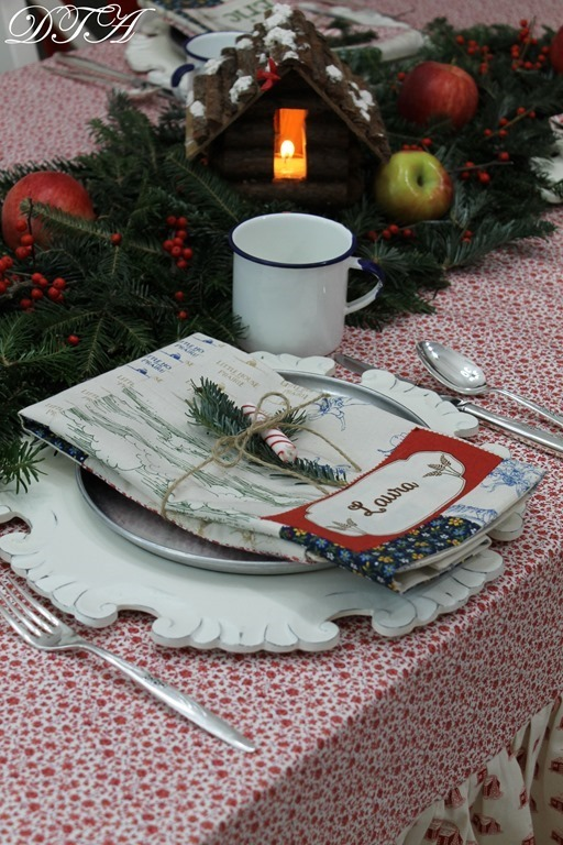 Little House on the Prairie Christmas table decor