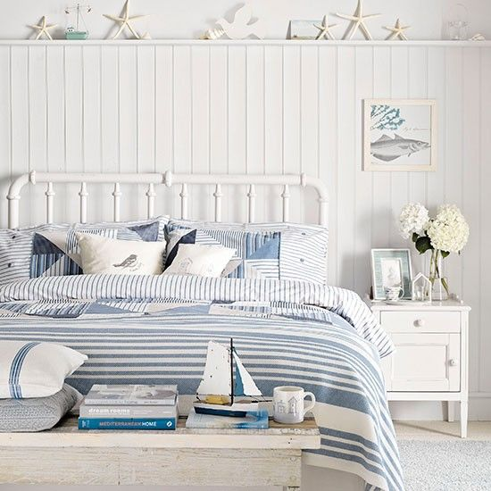 Coastal-style country bedroom | Country bedroom design ideas | Bedroom | PHOTO GALLERY | Housetohome.co.uk: