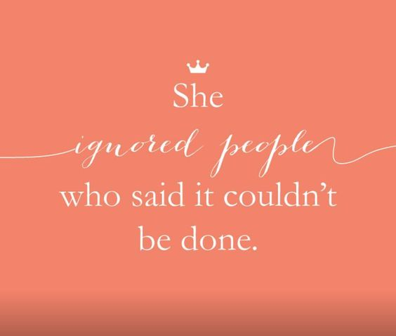 She persevered.......