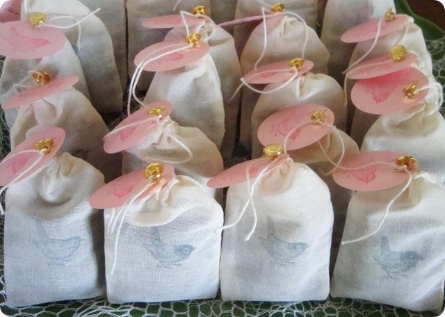 Lavender filled muslin bags