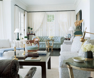 A Love of Buttons and Tufted Furniture