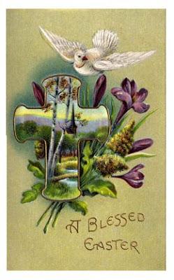 antique Easter postcards