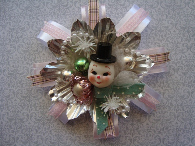 Vintage inspired Christmas corsage