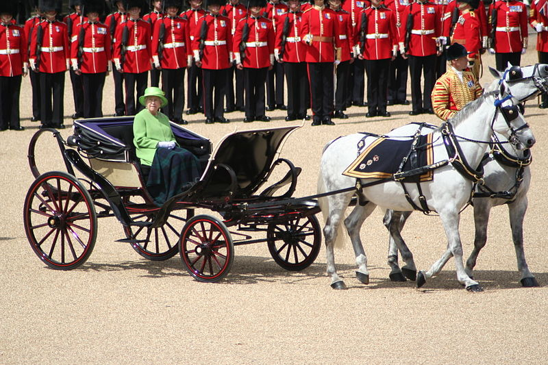 Trooping the Colour Queen carriage 16th June 2007