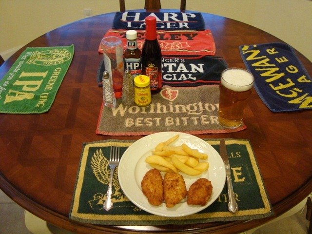 Fish and Chips Tablescape